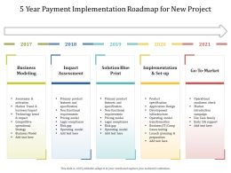 5 Year Payment Implementation Roadmap For New Project