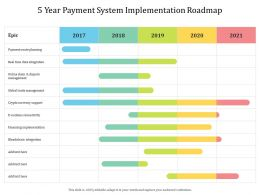 5 Year Payment System Implementation Roadmap