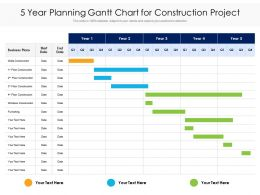5 Year Planning Gantt Chart For Construction Project