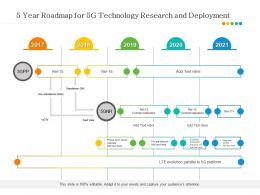 5 Year Roadmap For 5G Technology Research And Deployment
