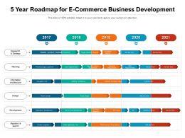 5 Year Roadmap For E Commerce Business Development