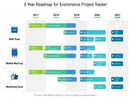 5 Year Roadmap For Ecommerce Project Tracker