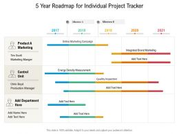 5 Year Roadmap For Individual Project Tracker