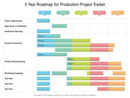 5 Year Roadmap For Production Project Tracker