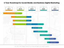 5 Year Roadmap For Social Media And Business Digital Marketing