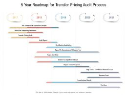 5 Year Roadmap For Transfer Pricing Audit Process