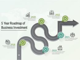 5 Year Roadmap Of Business Investment