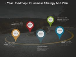 5 Year Roadmap Of Business Strategy And Plan Powerpoint Show