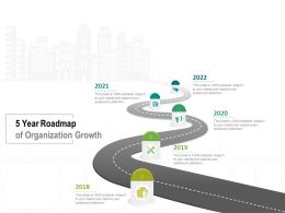 5 Year Roadmap Of Organization Growth