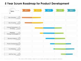 5 Year Scrum Roadmap For Product Development