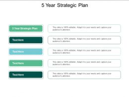 5 Year Strategic Plan Ppt Powerpoint Presentation Professional Objects Cpb