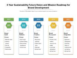 5 Year Sustainability Future Vision And Mission Roadmap For Brand Development