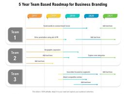 5 Year Team Based Roadmap For Business Branding
