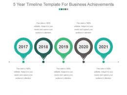 5 Year Timeline Template For Business Achievements Sample Of Ppt