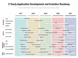 5 Yearly Application Development And Evolution Roadmap