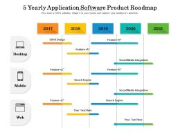 5 Yearly Application Software Product Roadmap