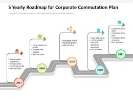 5 Yearly Roadmap For Corporate Commutation Plan