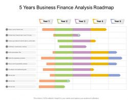 5 Years Business Finance Analysis Roadmap