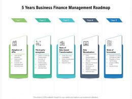 5 Years Business Finance Management Roadmap
