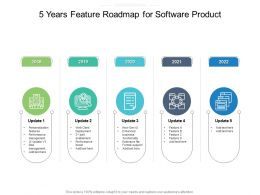 5 Years Feature Roadmap For Software Product