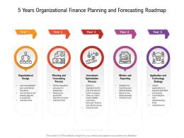 5 Years Organizational Finance Planning And Forecasting Roadmap