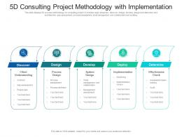 5d Consulting Project Methodology With Implementation