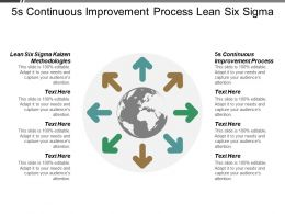5s Continuous Improvement Process Lean Six Sigma Kaizen Methodologies Cpb