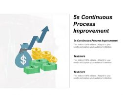 5s Continuous Process Improvement Ppt Powerpoint Presentation Layouts Graphics Template Cpb