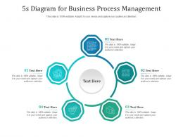 5s Diagram For Business Process Management Infographic Template