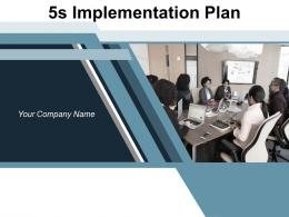 5s Implementation Plan Goals Company Workplace Framework Business Standardize Components