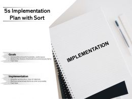 5s Implementation Plan With Sort