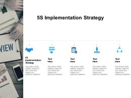 5S Implementation Strategy Ppt Powerpoint Presentation Summary Examples Cpb