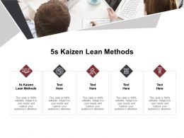 5s Kaizen Lean Methods Ppt Powerpoint Presentation Pictures Elements Cpb