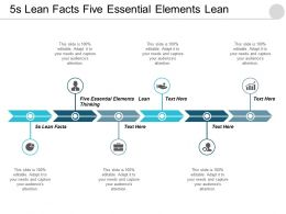 5s Lean Facts Five Essential Elements Lean Thinking Cpb