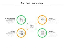 5s Lean Leadership Ppt Powerpoint Presentation Model Themes Cpb