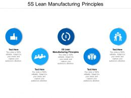 5S Lean Manufacturing Principles Ppt Powerpoint Presentation Slides Files Cpb