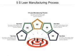5s Lean Manufacturing Process Ppt Powerpoint Presentation Diagram Graph Charts Cpb