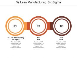 5s Lean Manufacturing Six Sigma Ppt Powerpoint Presentation Portfolio Samples Cpb
