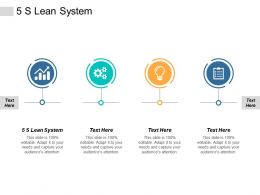 5s Lean System Ppt Powerpoint Presentation Professional Examples Cpb