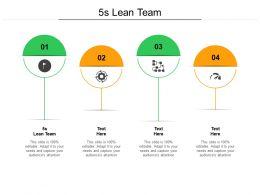 5s Lean Team Ppt Powerpoint Presentation Ideas Cpb
