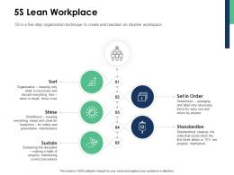 5s Lean Workplace Standardize Ppt Powerpoint Presentation Gallery Information