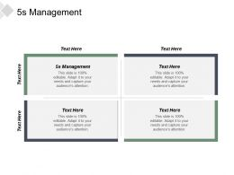 5s Management Ppt Powerpoint Presentation Infographics Graphic Tips Cpb