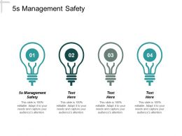 5s Management Safety Ppt Powerpoint Presentation Infographics Shapes Cpb