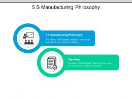 5s Manufacturing Philosophy Ppt Powerpoint Presentation Pictures Clipart Cpb