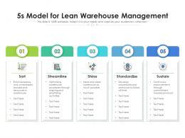 5s Model For Lean Warehouse Management
