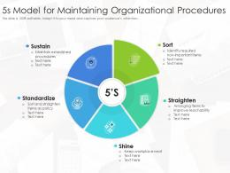 5s Model For Maintaining Organizational Procedures