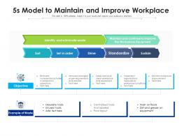 5s Model To Maintain And Improve Workplace