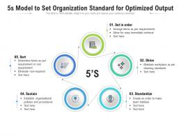 5s Model To Set Organization Standard For Optimized Output