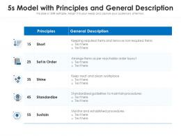 5s Model With Principles And General Description