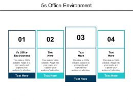5s Office Environment Ppt Powerpoint Presentation Pictures Guide Cpb